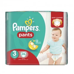 Pampers - Pack 26 Couches Baby Dry Pants taille 3 sur Couches Center