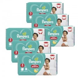 Pampers - Giga Pack 260 Couches Baby Dry Pants taille 3 sur Couches Center