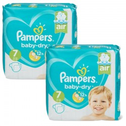 Pampers - Mega Pack 115 Couches Baby Dry taille 7 sur Couches Center