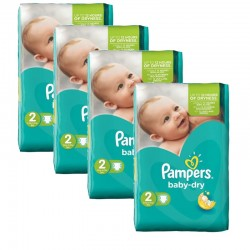 Pampers - 168 Couches Baby Dry taille 2 sur Couches Center