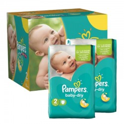 Pampers - 210 Couches Baby Dry taille 2 sur Couches Center