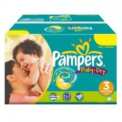 Pampers - Maxi Pack 374 Couches Baby Dry taille 3 sur Couches Center