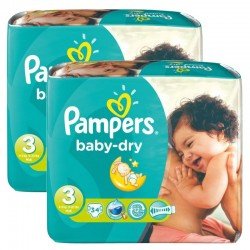 Pampers - Maxi Pack 170 Couches Baby Dry taille 3 sur Couches Center