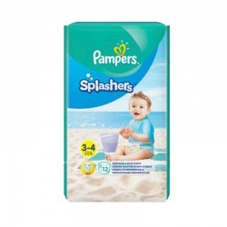 Pampers - Pack 12 Couches de bains Splashers taille 3 sur Couches Center