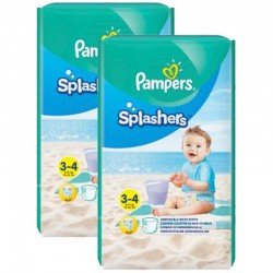 Pampers - Mega Pack 36 Couches de bains Splashers taille 3 sur Couches Center