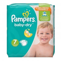 Pampers - Pack 30 Couches Baby Dry taille 7 sur Couches Center