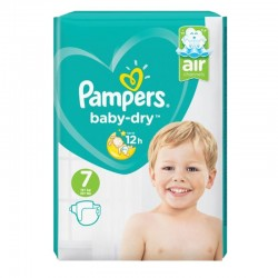 Pampers - Pack 72 Couches Baby Dry taille 7 sur Couches Center