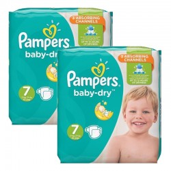 Pampers - Mega Pack 60 Couches Baby Dry taille 7 sur Couches Center