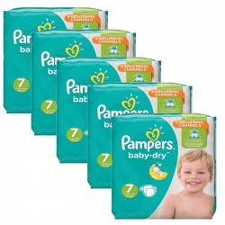 Pampers - Mega Pack 210 Couches Baby Dry taille 7 sur Couches Center