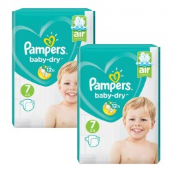 Pampers - Maxi Pack 144 Couches Baby Dry taille 7 sur Couches Center