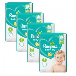 Pampers - Mega Pack 216 Couches Baby Dry taille 7 sur Couches Center