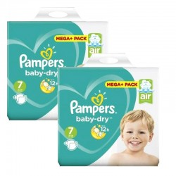 Pampers - Giga Pack 116 Couches Baby Dry taille 7 sur Couches Center