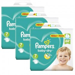 Pampers - Maxi Pack 174 Couches Baby Dry taille 7 sur Couches Center