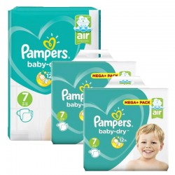 Pampers - Maxi Pack 232 Couches Baby Dry taille 7 sur Couches Center
