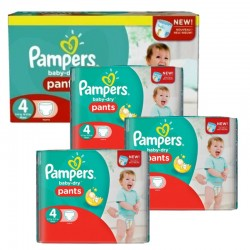 Pampers - Giga pack 203 Couches Baby Dry Pants taille 4 sur Couches Center