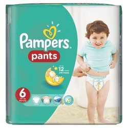 Pampers - Pack 23 Couches Baby Dry Pants taille 6 sur Couches Center