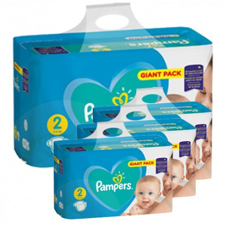 Pampers - Giga pack 282 Couches Active Baby Dry taille 2 sur Couches Center