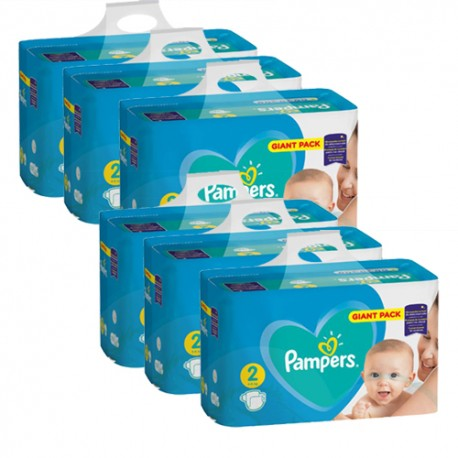 Pampers - Maxi giga pack 376 Couches Active Baby Dry taille 2 sur Couches Center