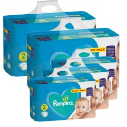 Pampers - Pack jumeaux 564 Couches Active Baby Dry taille 2 sur Couches Center