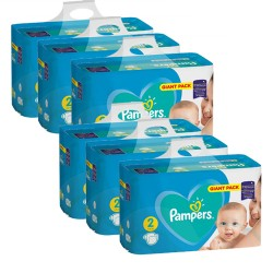 Pampers - Pack jumeaux 658 Couches Active Baby Dry taille 2 sur Couches Center
