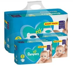 Pampers - Pack jumeaux 846 Couches Active Baby Dry taille 2 sur Couches Center