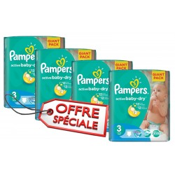 Pampers - Maxi mega pack 492 Couches Active Baby Dry taille 3 sur Couches Center