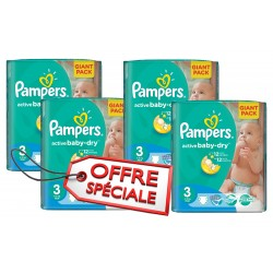 Pampers - Pack jumeaux 574 Couches Active Baby Dry taille 3 sur Couches Center