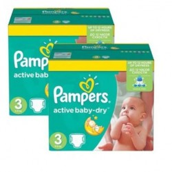 Pampers - Pack jumeaux 820 Couches Active Baby Dry taille 3 sur Couches Center