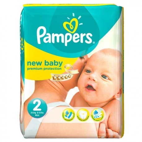 Pampers - Mega pack 144 Couches New Baby Dry taille 2 sur Couches Center