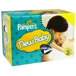 Pampers - Pack jumeaux 576 Couches New Baby Dry taille 2 sur Couches Center
