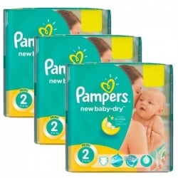 Pampers - Pack jumeaux 864 Couches New Baby Dry taille 2 sur Couches Center