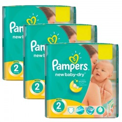Pampers - Pack jumeaux 1008 Couches New Baby Dry taille 2 sur Couches Center