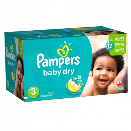 Pampers - Pack jumeaux 696 Couches Baby Dry taille 3 sur Couches Center