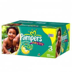 Pampers - Pack jumeaux 812 Couches Baby Dry taille 3 sur Couches Center