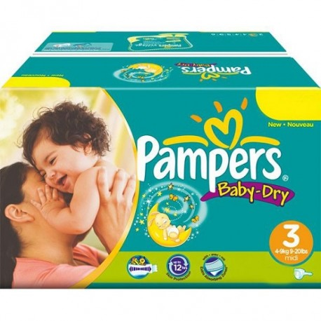 Pampers - Pack jumeaux 928 Couches Baby Dry taille 3 sur Couches Center