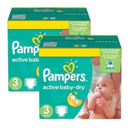 Pampers - Mega pack 105 Couches Active Baby Dry taille 3 sur Couches Center
