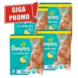 Pampers - Mega pack 150 Couches Active Baby Dry taille 3 sur Couches Center