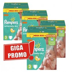 Pampers - Giga pack 285 Couches Active Baby Dry taille 3 sur Couches Center