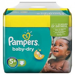 Pampers - Pack 84 Couches Baby Dry taille 5+ sur Couches Center
