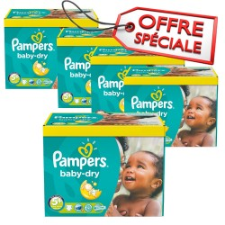 Pampers - Maxi mega pack 420 Couches Baby Dry taille 5+ sur Couches Center