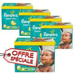 Pampers - Pack jumeaux 504 Couches Baby Dry taille 5+ sur Couches Center