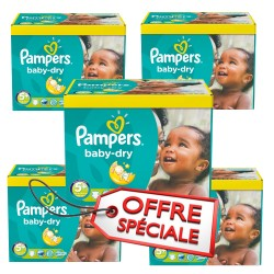 Pampers - Pack jumeaux 588 Couches Baby Dry taille 5+ sur Couches Center