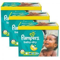 Pampers - Pack jumeaux 840 Couches Baby Dry taille 5+ sur Couches Center