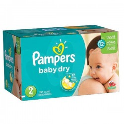 Pampers - Pack jumeaux 1296 Couches New Baby Dry taille 2 sur Couches Center