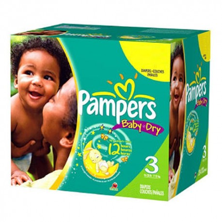 Pampers - Pack jumeaux 1160 Couches Baby Dry taille 3 sur Couches Center
