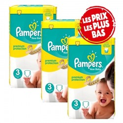 Pampers - Pack 40 Couches New Baby Premium Protection taille 3 sur Couches Center