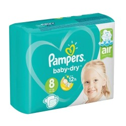 Pampers - Pack 28 Couches Baby Dry taille 8 sur Couches Center