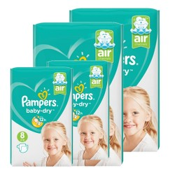 Pampers - Pack 56 Couches Baby Dry taille 8 sur Couches Center