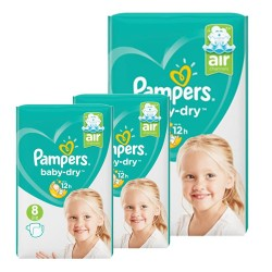 Pampers - Mega pack 196 Couches Baby Dry taille 8 sur Couches Center