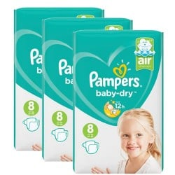 Pampers - Giga pack 252 Couches Baby Dry taille 8 sur Couches Center